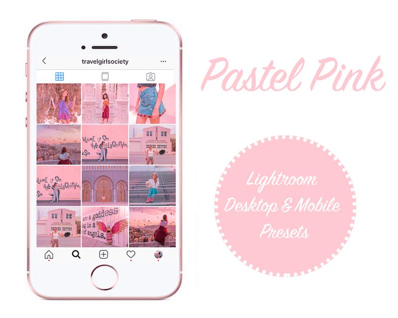 Pastel Pink: 4 Mobile and Desktop Lightroom Presets